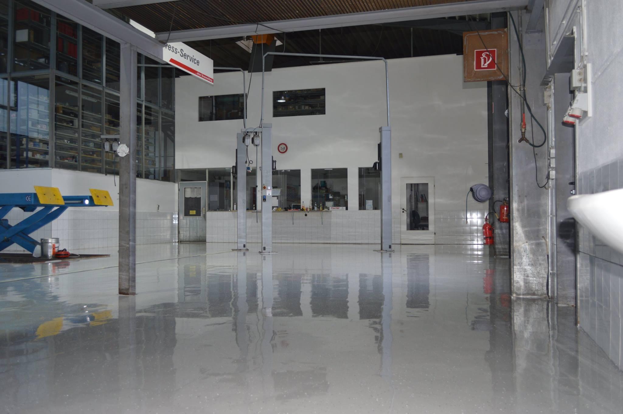 Werkstatt Bodenbeschichtung