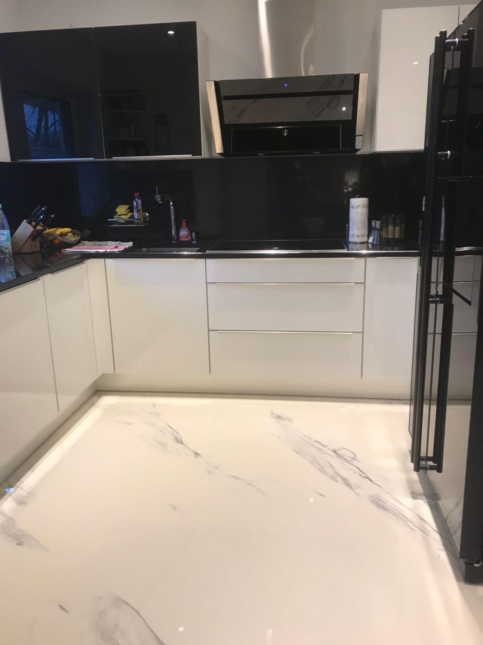 Marmor Boden Küche | 3D Boden STEDFLOOR